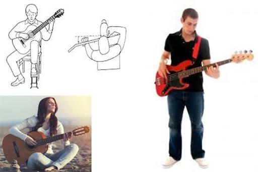 Kinh nghiệm chơi đàn guitar - Tư thế ngồi