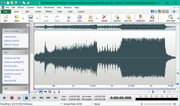 NCH Wavepad Audio Editor lets you edit audio files like a Pro