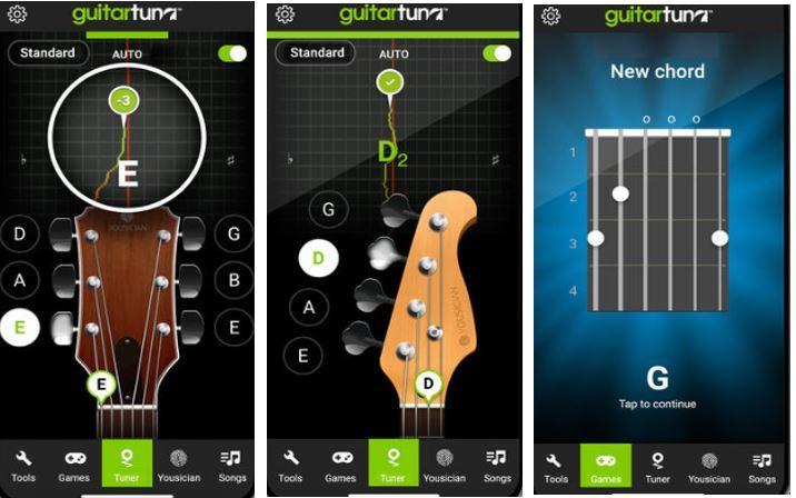 Phần mềm guitar tune
