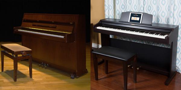 So sánh piano cơ và piano điện