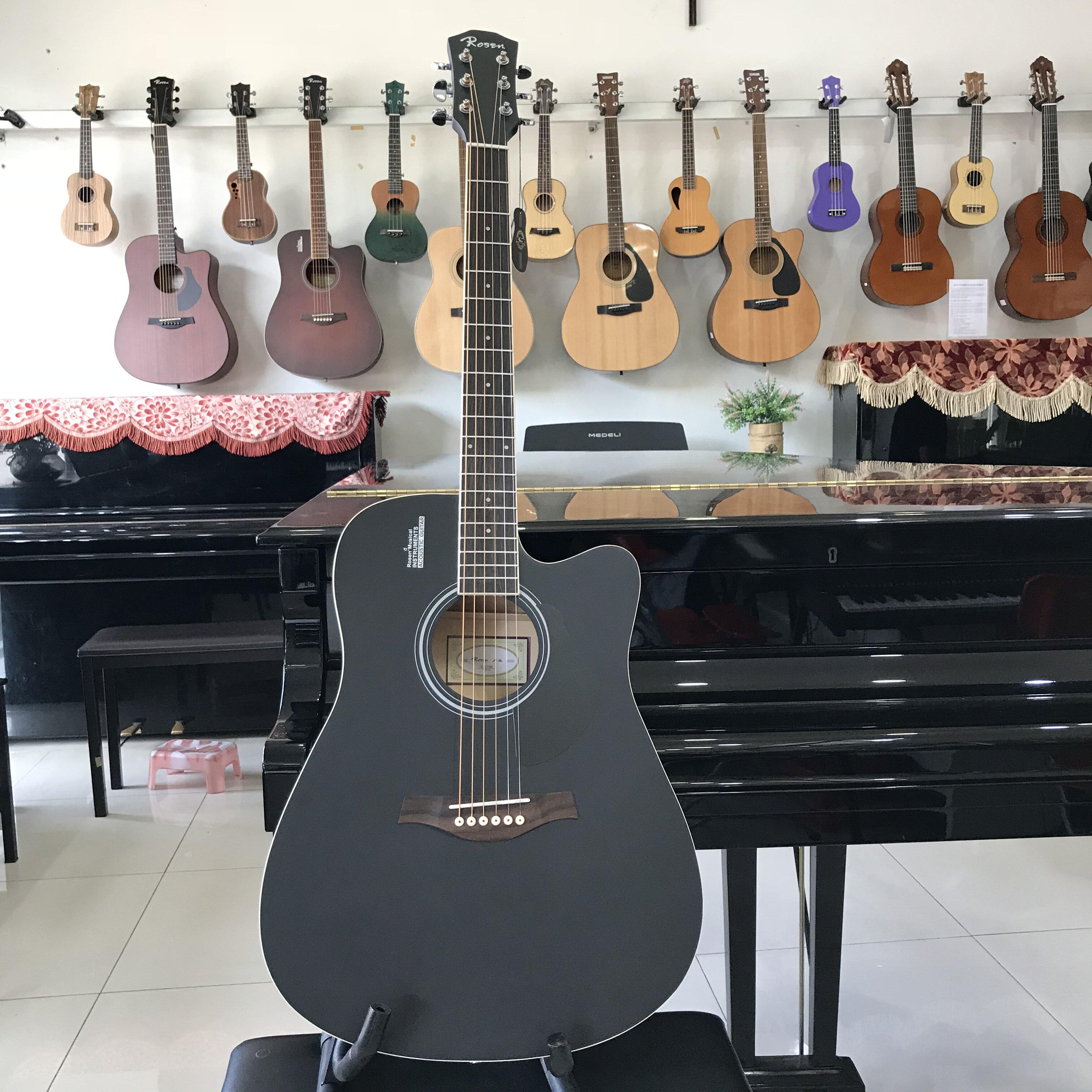 Guitar Acoustic Rosen G11 BK Đen Mờ-TT Ngọc Hưng Phát- Biên Hòa