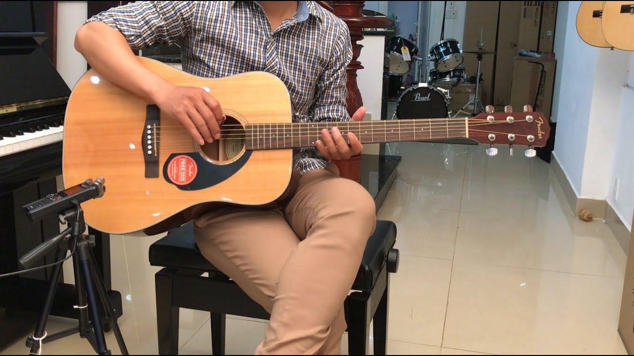 Review đàn guitar Fender CD60S NAT | Bán Fender CD60S NAT - YouTube